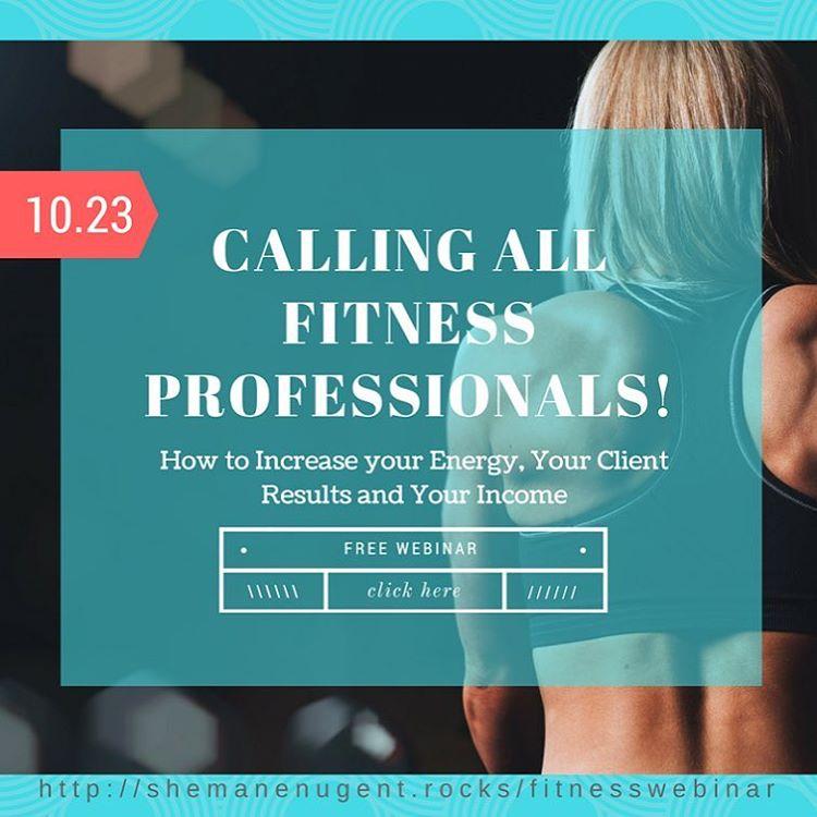 calling all fitness professionals! I am hosting a webinar wAlviehellip