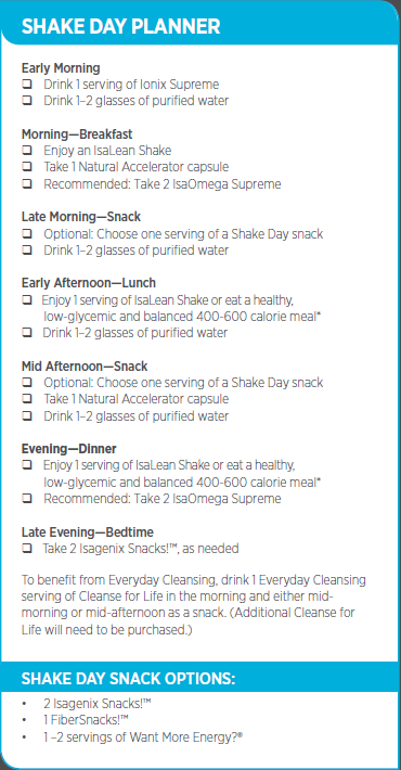 Shake Day Planner